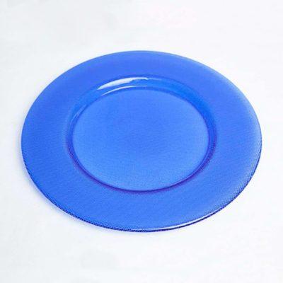 alquiler plato presentacion azul