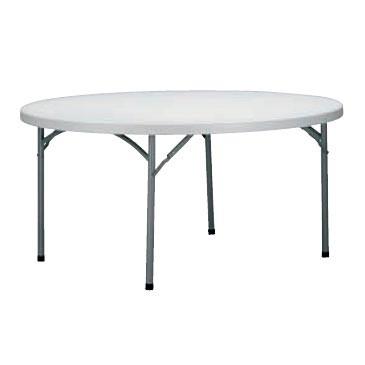 alquiler mesa redonda polietileno