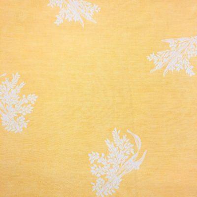 alquiler manteleria naranja de lino estampada