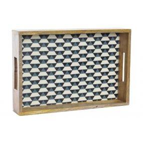 alquiler bandeja arlequin madera