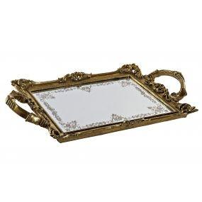 alquiler bandeja madera espejo