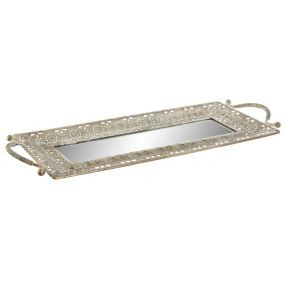alquiler bandeja espejo cobre arabescos