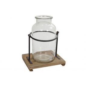 alquiler expositor buffet cristal madera