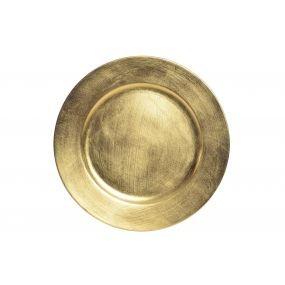 alquiler plato presentacion dorado