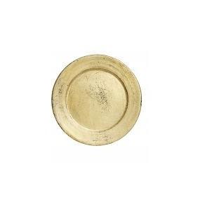 Plato pan dorado