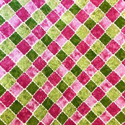 alquiler mantel cuadrado verde y rosa