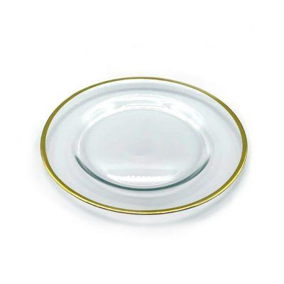 alquiler plato cristal FILO DORADO