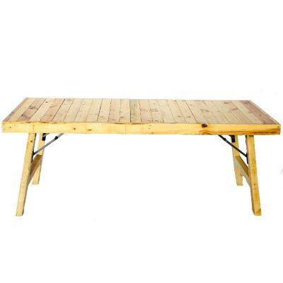 alquiler mesas madera